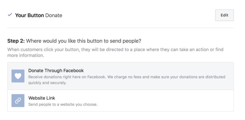 Receive Facebook donations