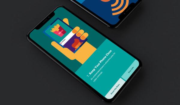 Illustrated website on phone