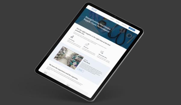 Plus website on iPad